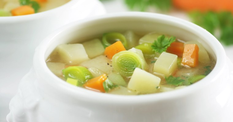 Leek and Potato Soup with Carrots