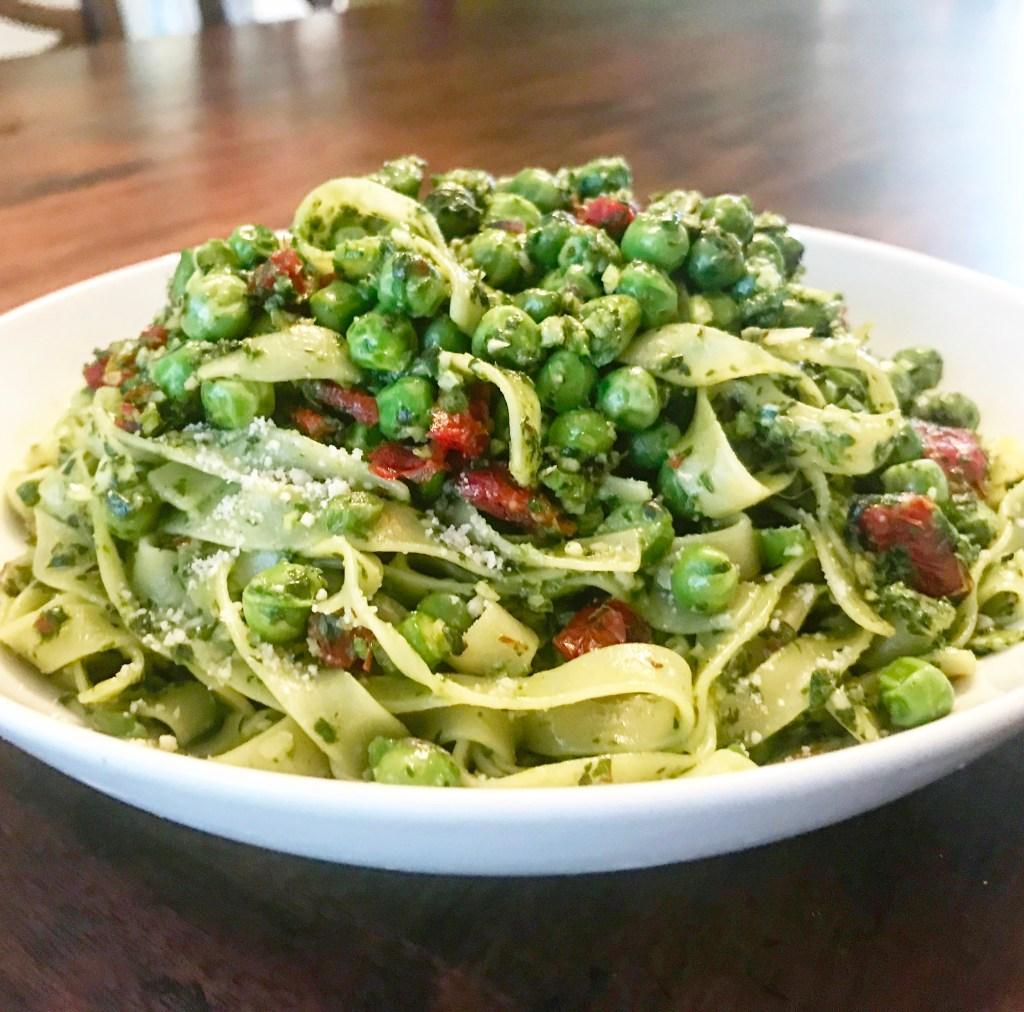 Springtime Pesto Fettuccine | thiswifecooks.com