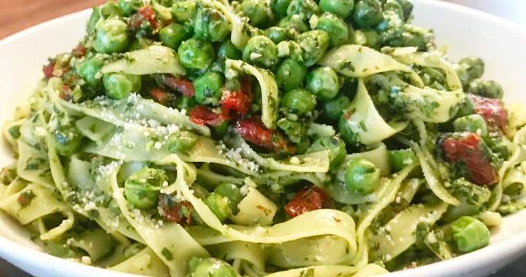Springtime Pesto Fettuccine