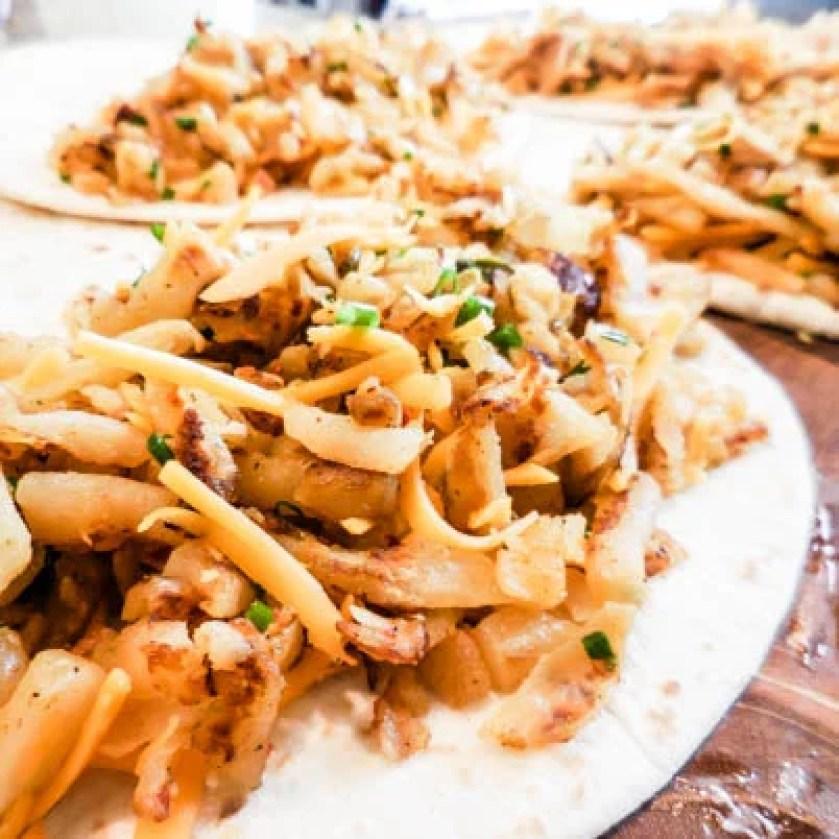 Vegan Southwest Hash Brown Quesadillas | thiswifecooks.com