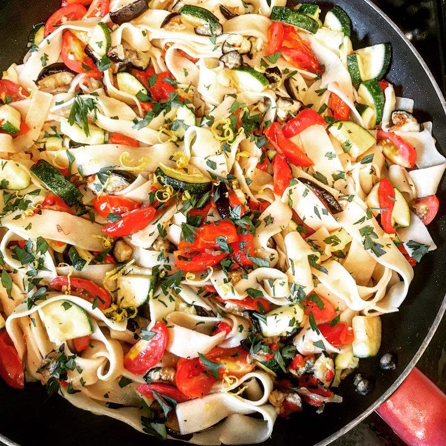 Pasta Ratatouille | thiswifecooks.com