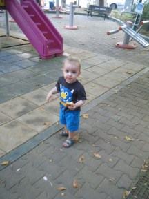 Liam at the playground