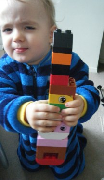 His latest Lego creation