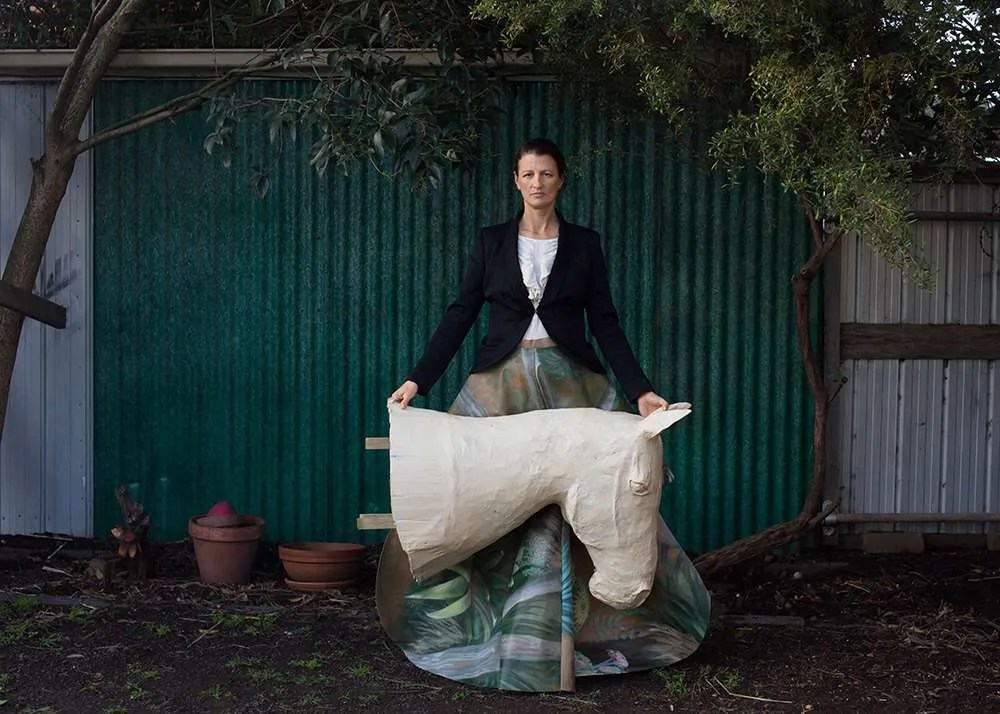 Portrait Of Australian Artist Jacqui Stockdale, By Ilona Nelson For This Wild Song