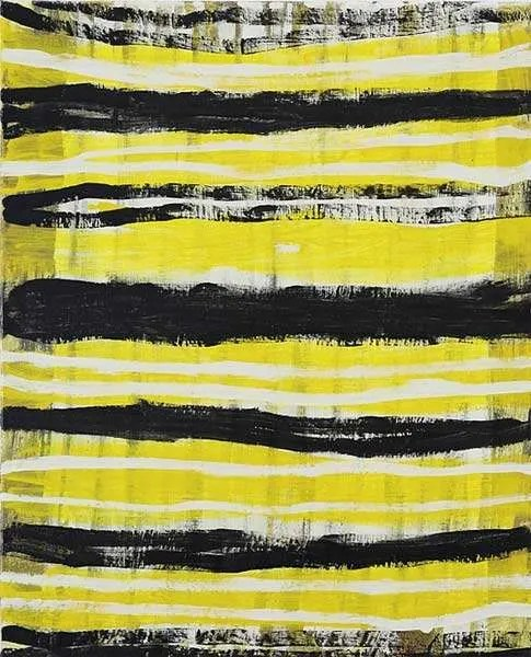 Terri Brooks, Yellow Stripes, 2016