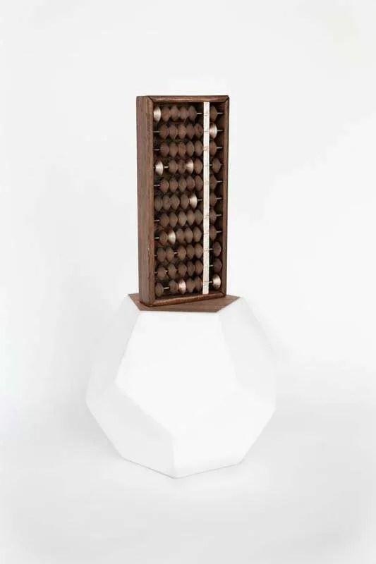 Wanda Gillespie, Higher Consciousness Integrating Calculator 1, 2016, abacus, paint, ceramic 400 x 200 x 200 mm