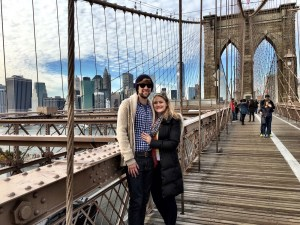 Walking the Brooklyn Bridge into Manhattan
