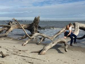 Driftwood Beach, Jekyll Island - where I said yes!