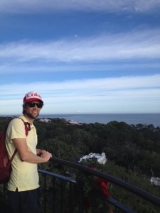 John at the top of St. Simons Island Lighthouse