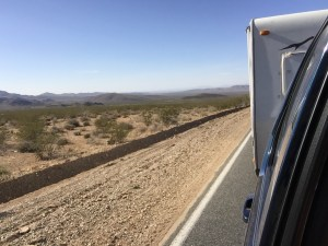 On the road in the Mojave