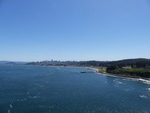 San Francisco from the Golden Gate Bridge