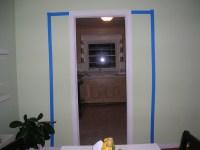 Living Room Door Taped off