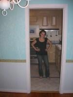 Dining room door - last time Sherry