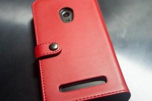 ZenFone5 A500KL ブックカバー・レザーケース装着、裏面。