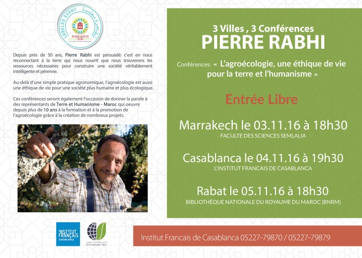 Cop22: Conférences PIERRE RABHI