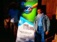 Notre ami agroécologique Palestinien au Forum de la Terre