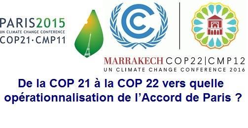 Table ronde - De la COP 21 à la COP 22 : Opérationnalisation ?