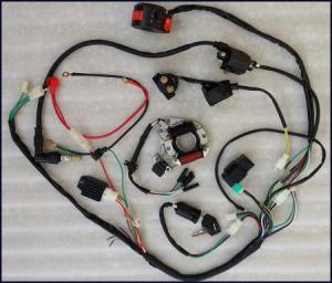 Full Electrics wiring harness CDI coil 110cc ATV Quad Bike