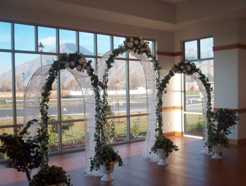 WHITE WEDDING ARCH IN/OUT DOOR PARTY BIRTHDAY SHOWER 90