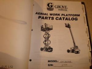 GROVE SM2632E MANLIFT AERIAL WORK PLATFORM PARTS & SERVICE