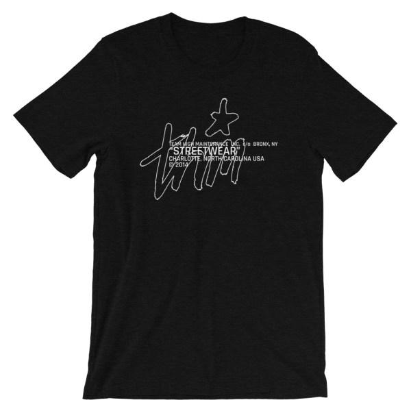 Streetwear t-shirt black front