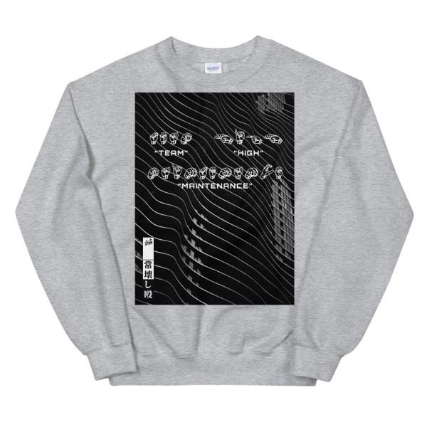 Sign language grey sweatshirt