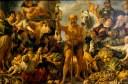Gemäldegalerie Alte Meister, Staatliche Kunstsammlungen Dresden; Foto: Elke Estel/ Hans-Peter Klut  Jacob Jordaens Antwerpen 1593 – 1678 Antwerpen Diogenes mit der Laterne, auf dem Markt Menschen suchend. Um 1642 Öl auf Leinwand; 233 x 349 cm Gemäldegalerie Alte Meister, Gal.-Nr. 1010 Verwendung nur mit Genehmigung und Quellenangabe
