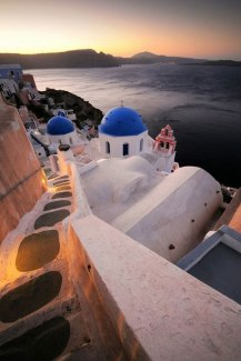 Steps on the Caldera in Oia