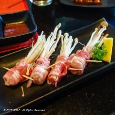 Pork Belly and Mushroom Rolls
