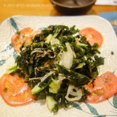 Wakame seaweed salad (after mixing)