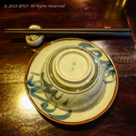 Bowl, plate and chopstick