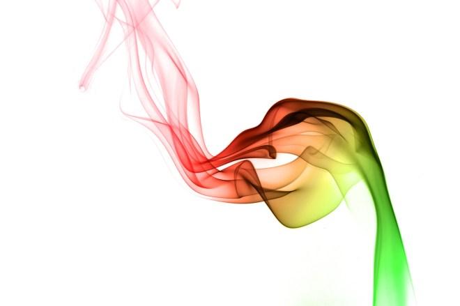 Photo de fumée colorisée