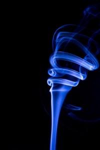 Photo de fumée en spirale
