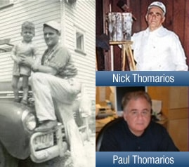 Picture of the founder of Thomarios, Nick, and his son Paul