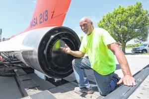 Tom Casanova Restoration Specialist with restored Sky lancer