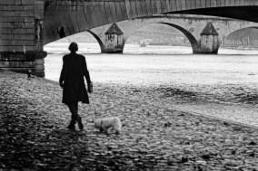 Sur les quais de Seine, un jour pluvieux...