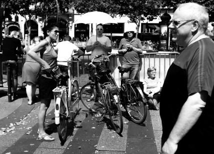 Photo prise sur les champs Elysées le jour de l'arrivée du Tour de France