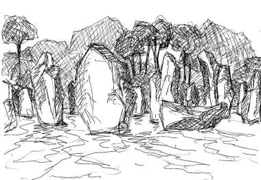 Bretagne27-Menhire von Kermario3
