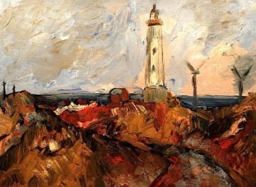 Daenemark16-Leuchtturm von Lyngvik
