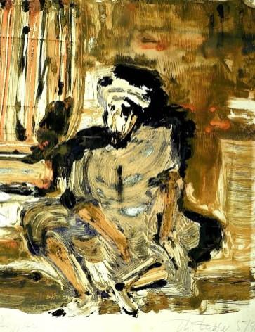 Egypt48-Kom Ombo-Sitzender Arbeiter
