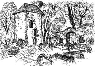 FlaemSk4 Baerwalde Ruine des alten Schlosses