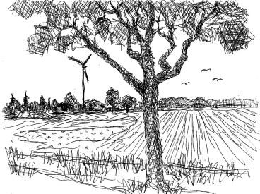 FlaemSk8 Goelsdorf Felderlandschaft