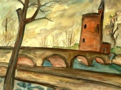 Flandern13-Minnewater bei Bruegge
