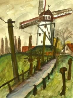 Flandern15-Damme-Windmuehle