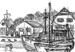 Hiddensee1-Im Vitter Hafen