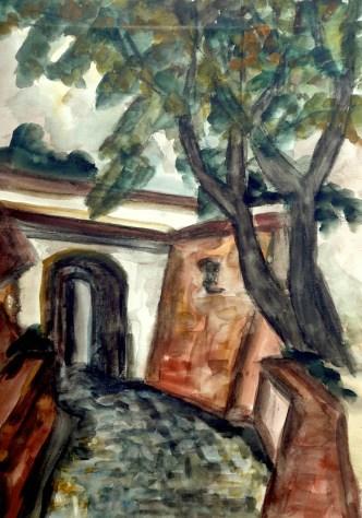 Maehren1-Mikulov-Schlossauffahrt