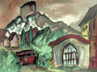 Maehren14-Mikulov-Blick zum Kozi Hradek2