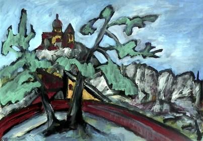 Maehren39-Mikulov-Blick zum Kopecek3