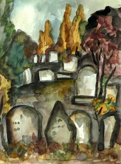 Maehren8-Mikulov-Juedischer Friedhof3