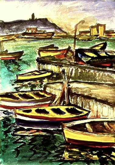 Malta12_Boote vor Marsaxlox2